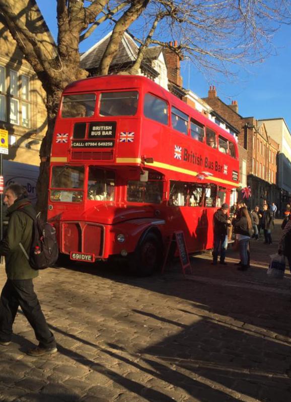 British bus bar food festival