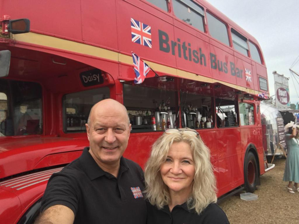 British bus bar - Netty and Wayne