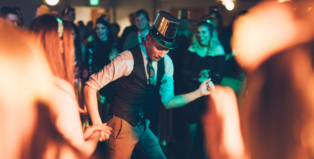 man dancing at a party